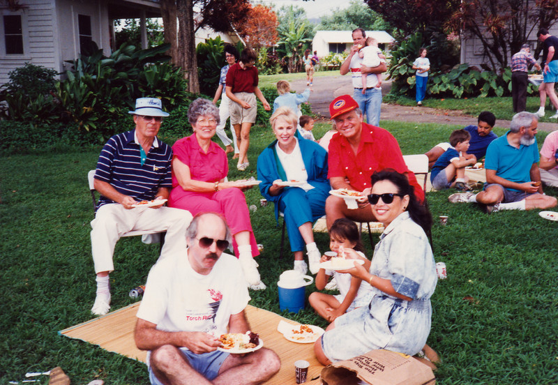 Bill and Marcella Goulding, Loren and Dar,Dave, Leilani, Lydia Hall