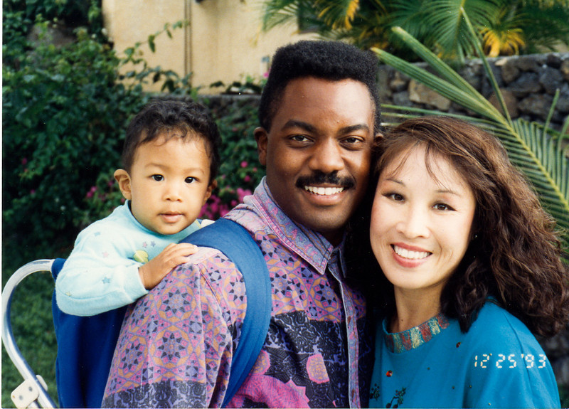 Kenny and Maria Jackson with David in 1993