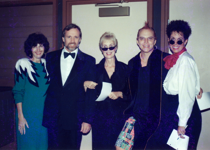 1989 SDF Hollywood premiere judges Carol and David Boyd,Darlene,Andy Beach, Dawn Gauslin