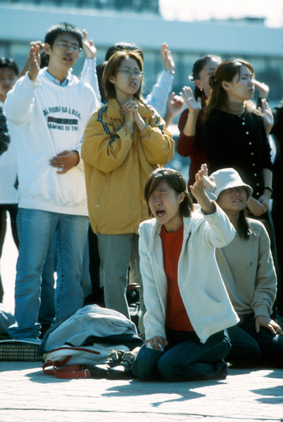 Korean Christians pray near DMZ