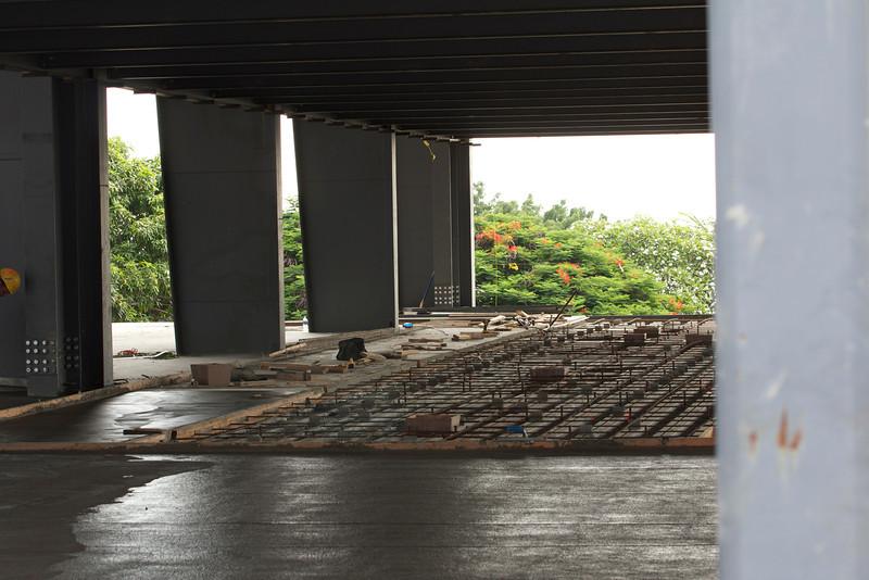 Continuing the concrete pour