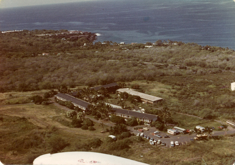 Aerial shot of original buildings of Pacific Empress Hotel