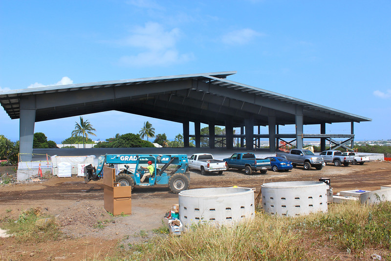 Continuing construction in Cafeteria & Kitchen