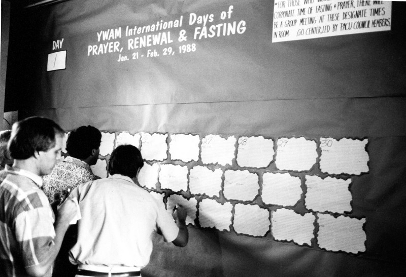 YWAM international days of prayer and fasting, 1988
