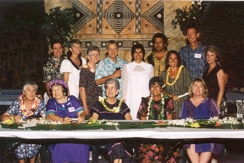 Kauffmans, Mansfields,Yolanda Olson, Rod & Alexis Wilson, Bracy's, Fay Williams, Marcella Goulding,  Molly Young, Donna Livingston.  (Fay handed Loren the keys to the Pacific Empress Hotel in 1977)