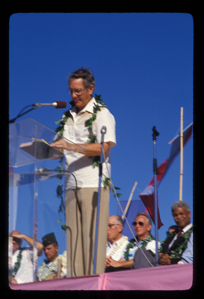 Howard Malmstadt at YWAM's 25th celebration in Kona.