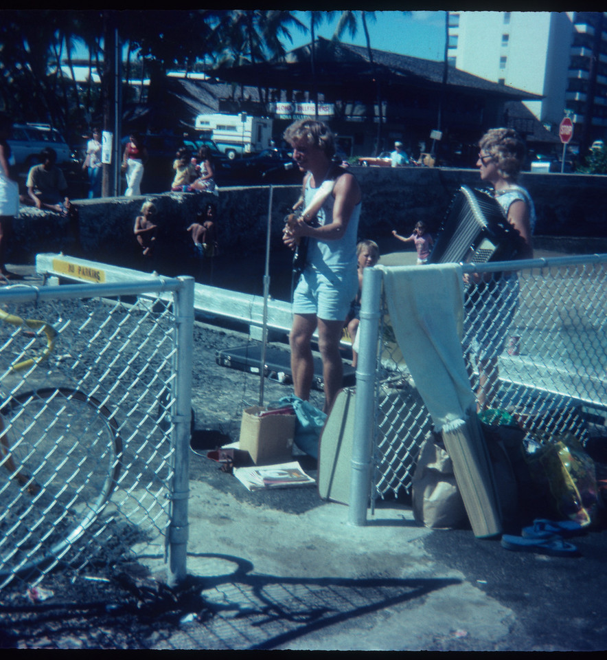 Kailua pier outreach <br /> The late Jim Winkler on guitar-Fay Williams Accordion