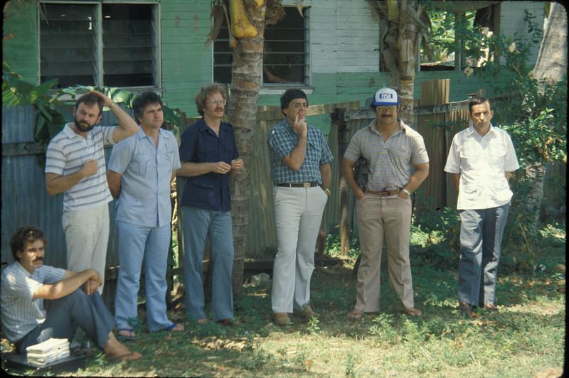 Standing: Bernie O, Tom H, Dean S, Gary S ,Kalafi M, David R. Tonga?