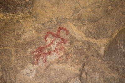 Petroglyph along the Barker Dam Trail.