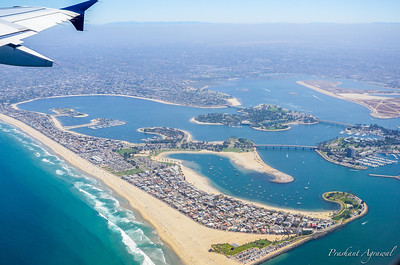Over San Diego in California, USA