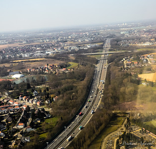 Over Brussels in Belgium