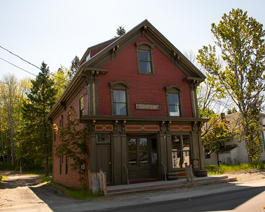 Cherryfield, Maine: small town with a number of interesting buildings.