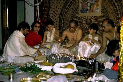 Priests Perform an Upanayana Ceremony at the Sri Venkateswara Temple (Bridgewater, NJ)