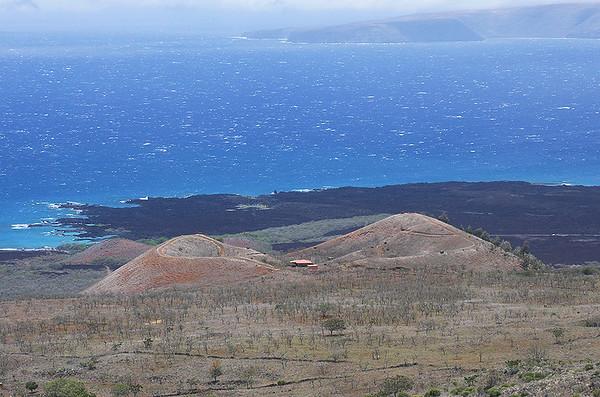 Pu'u o Kanaloa, a cinder cone in Haleakala volcano's Southwestern Rift Zone, south Maui.