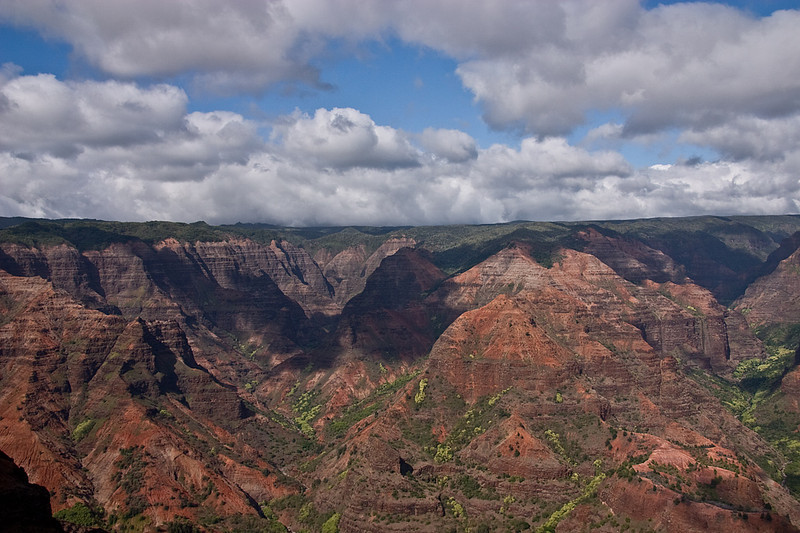 View of Waimea Canyon from an overlook along Highway 550 (across the canyon from Pu'u Ki), west Kaua'i.
