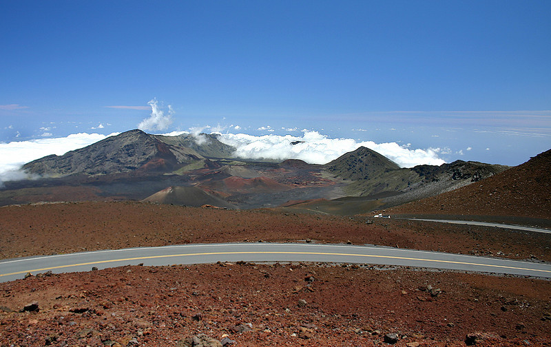 The last turn before the summit, Haleakala Summit Road.