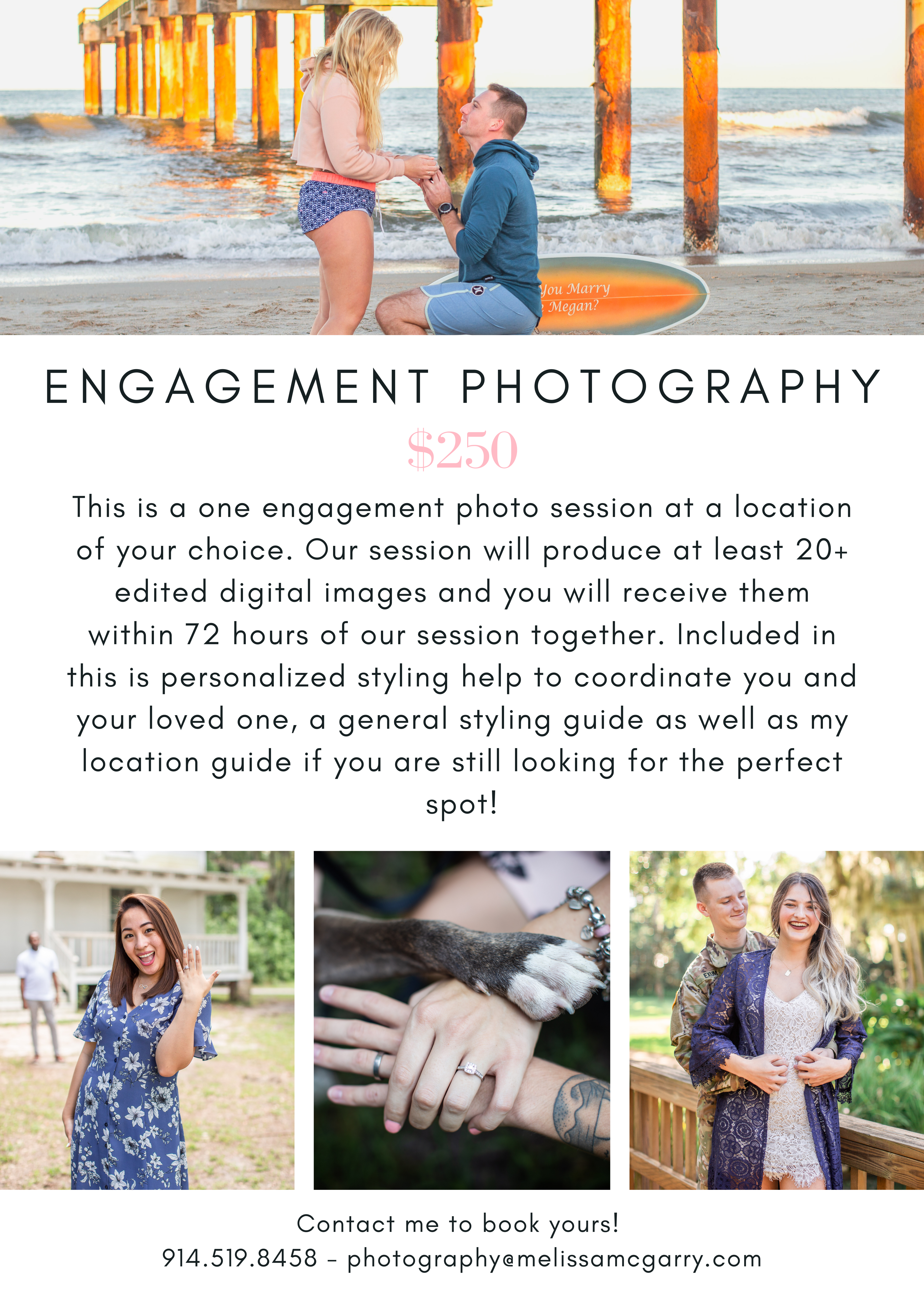 White Wedding Photography Flyer