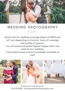 White Wedding Photography Flyer