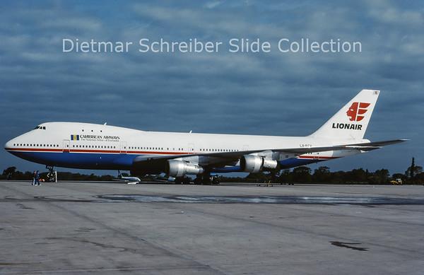 1988-06 LX-FCV Boeing 747-121 (c/n 19658) Caribbean Airways