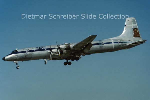 1992-04 N100BB Canadair CL44D4-2 (c/n 29) Tradewinds