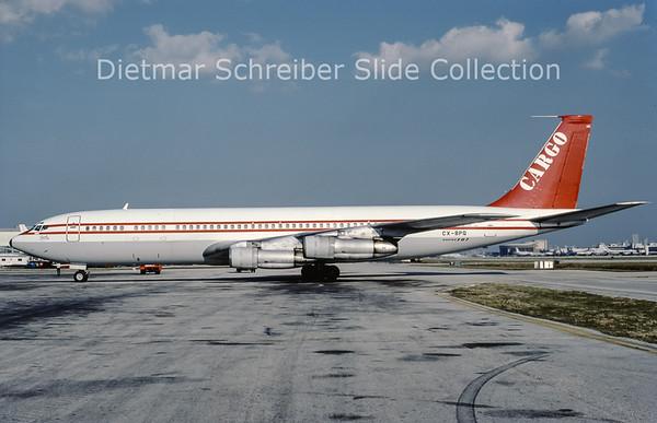 1988-10 CX-BPQ Boeing 707-321C (c/n 18716) Aero Uruquay
