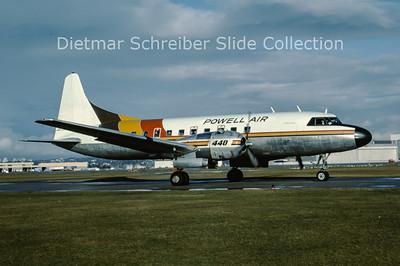 1984-10 C-GKFC Convair CV440-62 (c/n 504) Powell Air