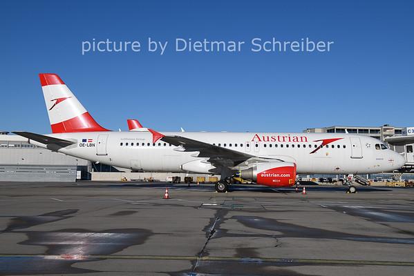 2021-01-22 OE-LBN Airbus A320 AUstrian AIrlines