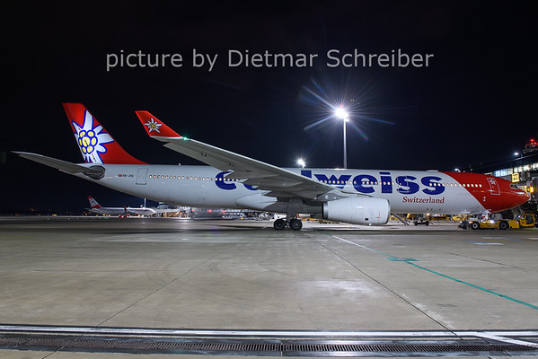 2021-01-22 HB-JHQ Airbus A330-300 Edelweiss