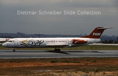 2000-10 PT-MRH Fokker F28-0100 (Fokker 100) (c/n 11305) TAM Brasil