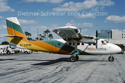 1988-11 N122PM DHC Dash 6-100 Twin Otter (c/n 15) Freefall Express