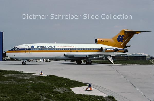 1982-04 D-AHLR Boeing 727-89 (c/n 19138) Hapag Lloyd