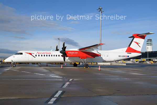 2021-01-24 OE-LGM DAsh8-400 Austrian AIrlines