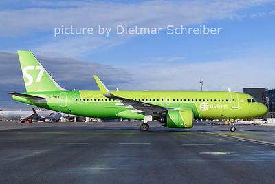 2021-01-24 VP-BTX Airbus A320neo S7 Airlines