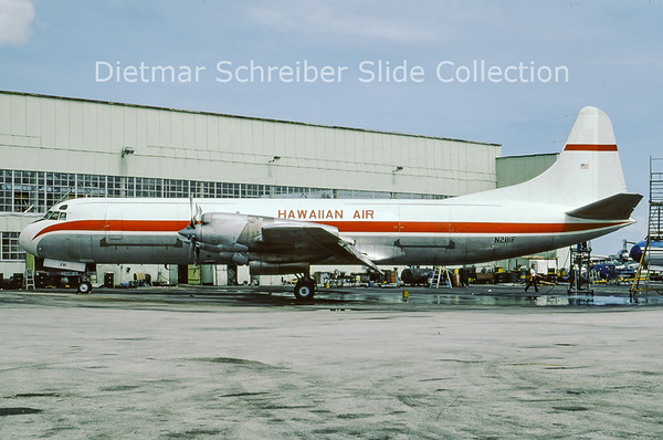 1977-06 N281F Lockheed L188AF Electra (c/n 1079) Hawaiian Airlines