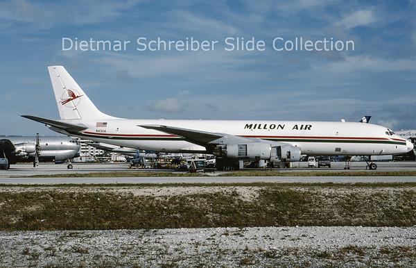 1994-12 N43UA Douglas DC8-54AF (c/n 45677) Millon Air