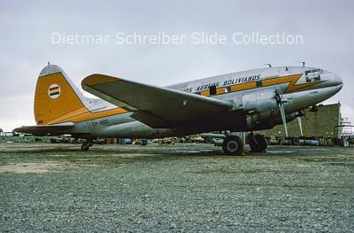 1977-02 CP-900 Curtiss C46A-45-CU (c/n 30239) Servicio Aereo Bolivar