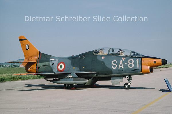 1984-08-09 MM6431 Fiar G91T1 (c/n 113) Italian Air Force