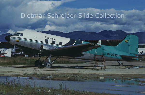 1985-08 HK-2497P Douglas DC-3C (c/n 27079/15634) Sadelca Colombia