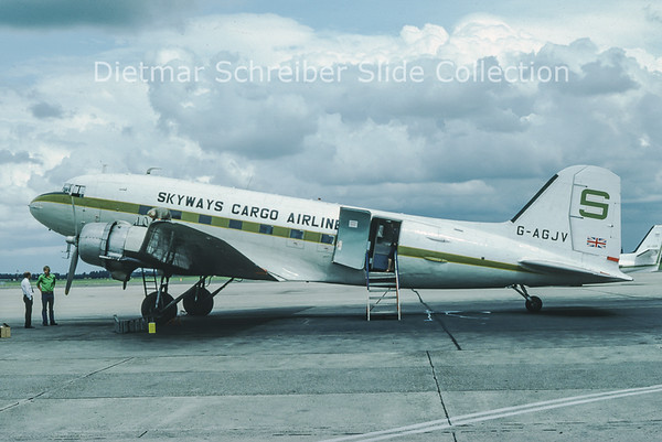 1976-07 G-AGJV Douglas DC-3C (c/n 12195) Skyways Cargo Airline
