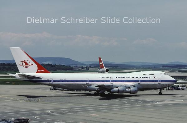 1981-06 HL7447 Boeing 747-230B (c/n 20493) Korean Air