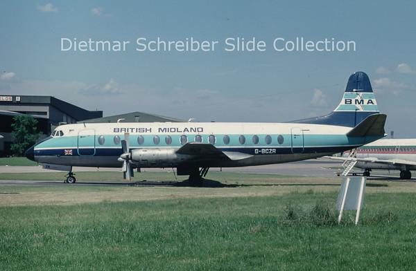 1978-06 G-BCZR Vickers Viscount 838 (c/n 446) British Midland
