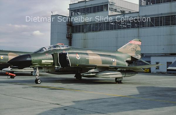 1981-05 65-0714 MDD F4D Phantom (c/n 1762) United States Air Force