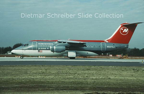 2001-03 N527XJ Bae AVRO RJ85 (c/n E.2352) Northwest Jet Link