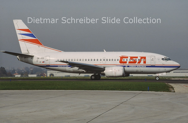 OK-XGE Boeing 737-55S (c/n 26543) CSA Czech Airlines