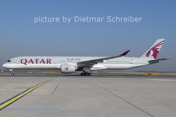 2021-02-26 A7-ANO Airbus A350-1000 Qatar Airways