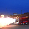 The jet-powered fire engine dragster in full bloom at the Duncan car show. <br /> <br /> Photographer's Name: Steve  Olafson<br /> Photographer's City and State: Duncan , OK