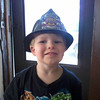 My 3 year old grandson Walter Horton in the Firemans hat he recieved at Head Start. <br /> <br /> Photographer's Name: Sandy Parr<br /> Photographer's City and State: Duncan, OK