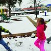 Snowball fight in Fuqua Park. <br /> <br /> Photographer's Name: Steve  Olafson<br /> Photographer's City and State: Duncan , OK