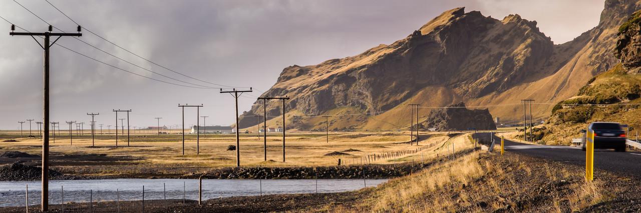 Drangshilð and Skoga river