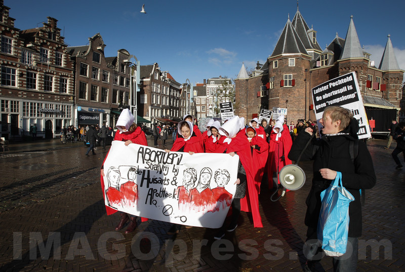 Netherlands -  Demonstration to make the abortion pill available